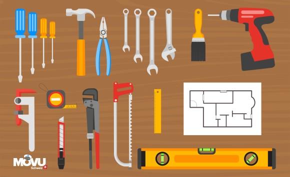 Werkzeuge erleichtern manche Aufgabe beim Umzug.