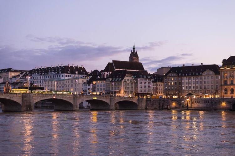 Basel, Aussicht am Abend