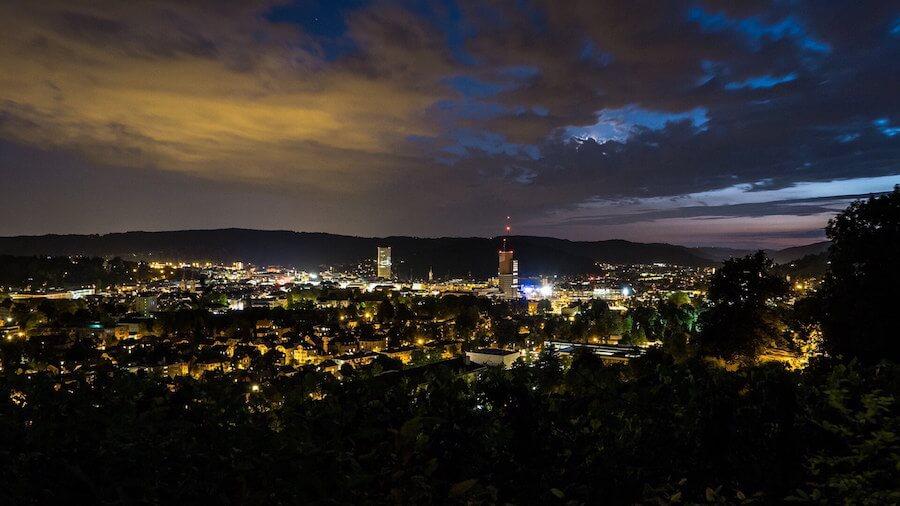 Winterthur in der Nacht