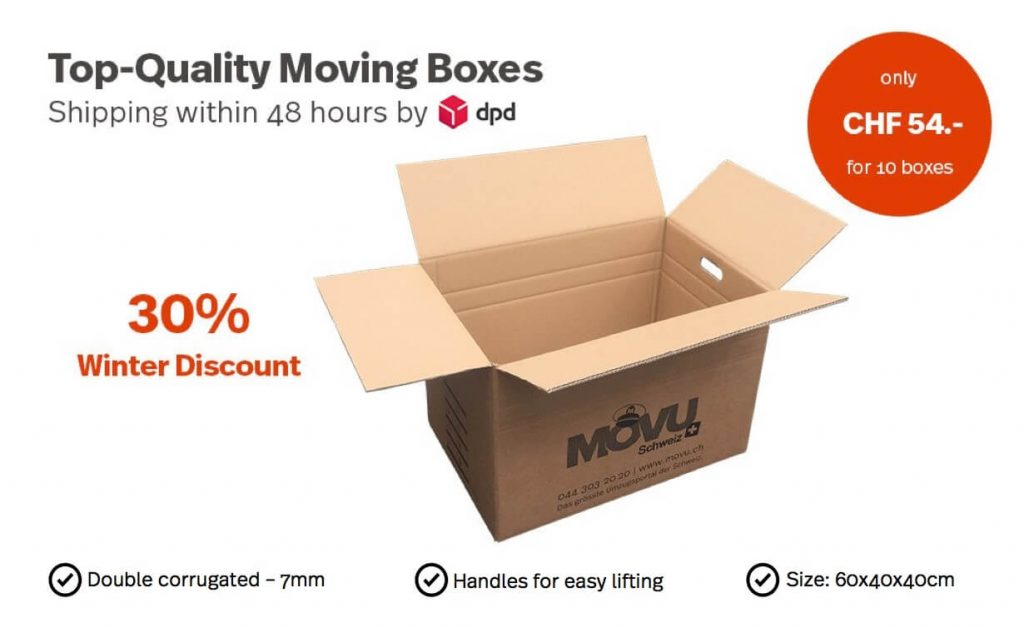 moving boxes - winter discount