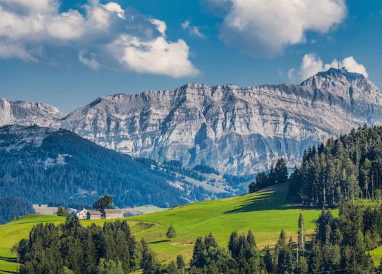 St.Gallen Natur und Berge