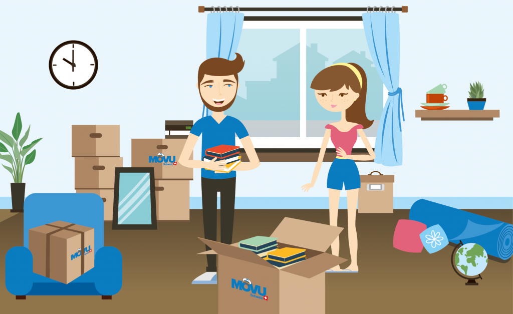 Packing boxes and furniture systematically with a checklist makes the move easier