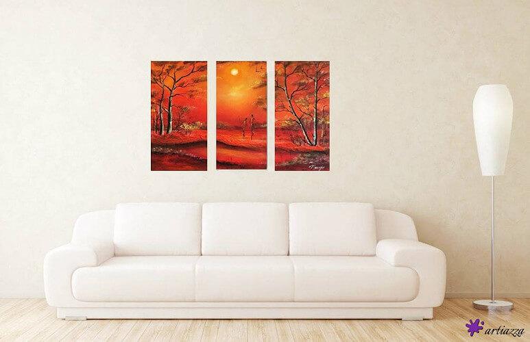 Wohnzimmer Sofa mit Bild