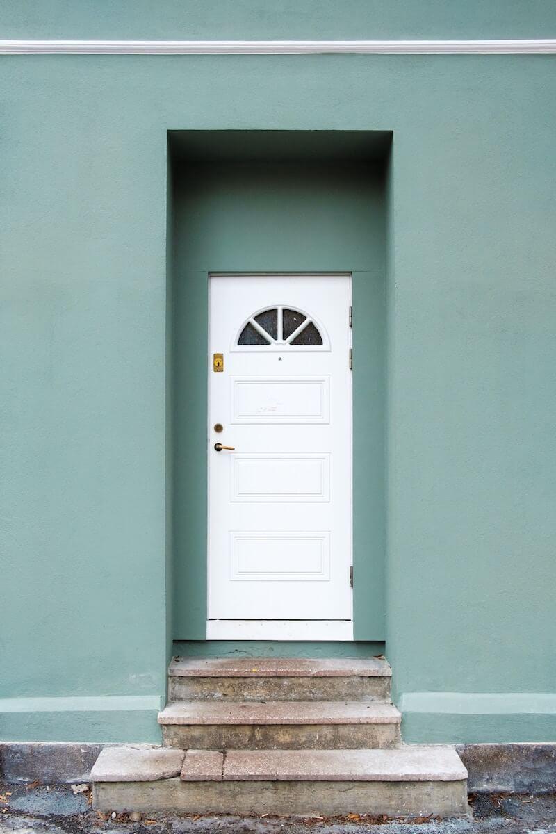 Türe eines Hauses