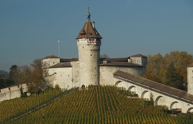 Schloss in Munot in der Stadt Schaffhausen.