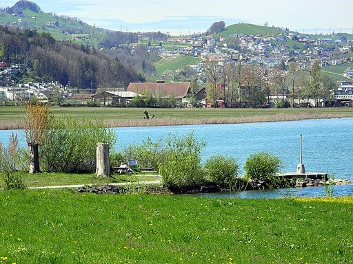 Blick auf den Frauenwinke in Freienbach (SZ).