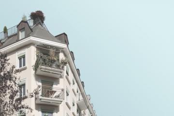 Haus mit Balkon
