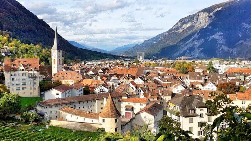 Chur with the clean old town
